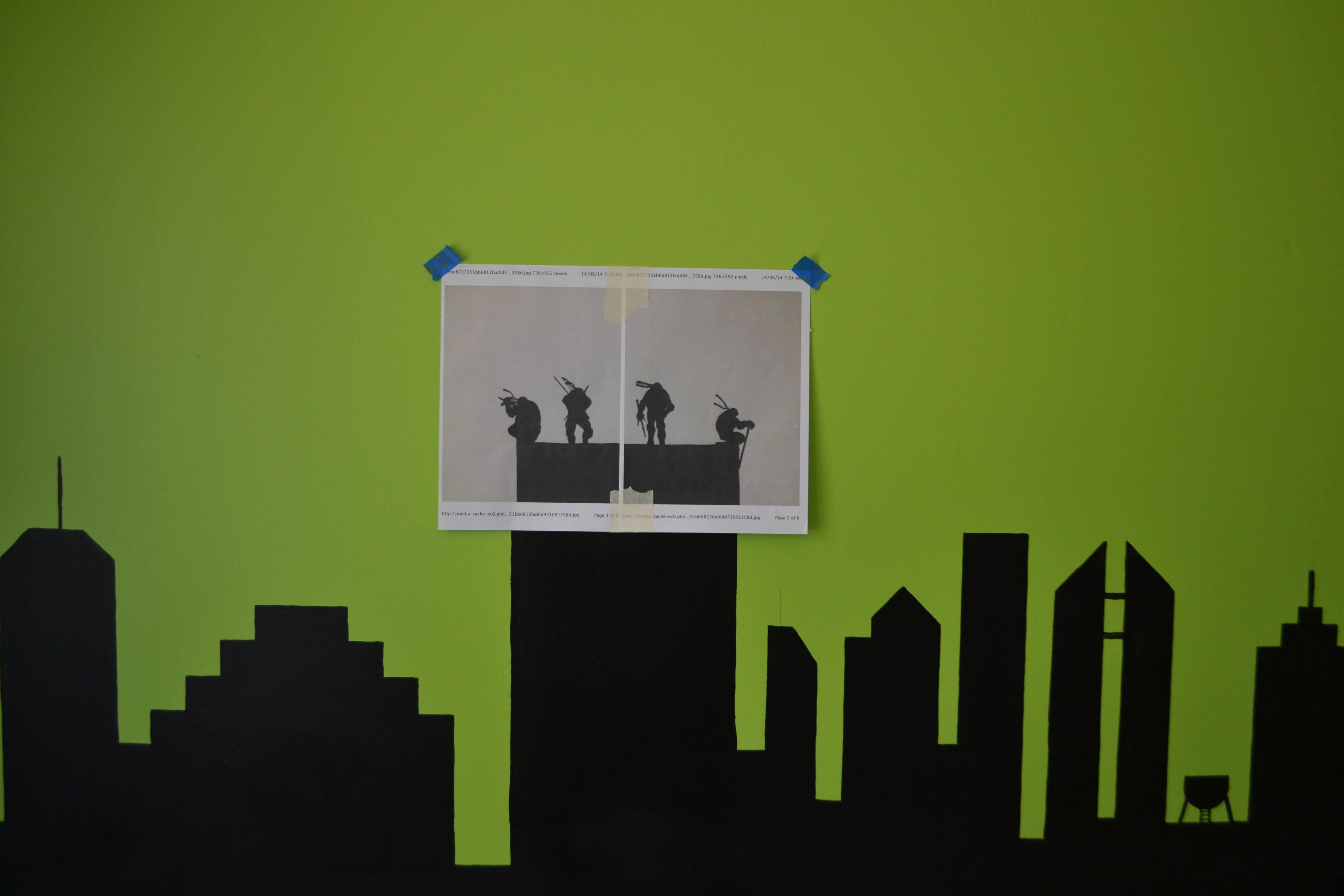 Teenage Mutant Ninja Turtle wall mural – the beach bomb